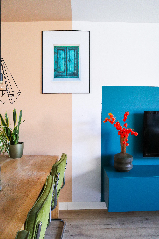 Lange Muur Doorbreken Met Kleurvlakken Interieur Lifestyle