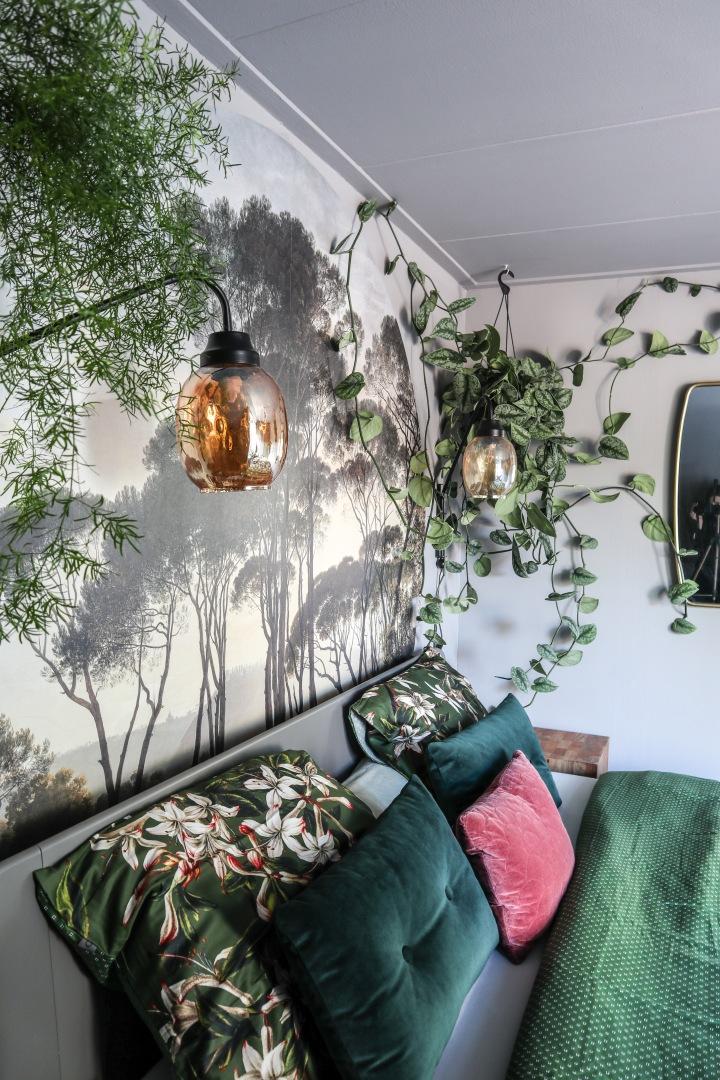 Botanische slaapkamer in boutiquehotelsfeer